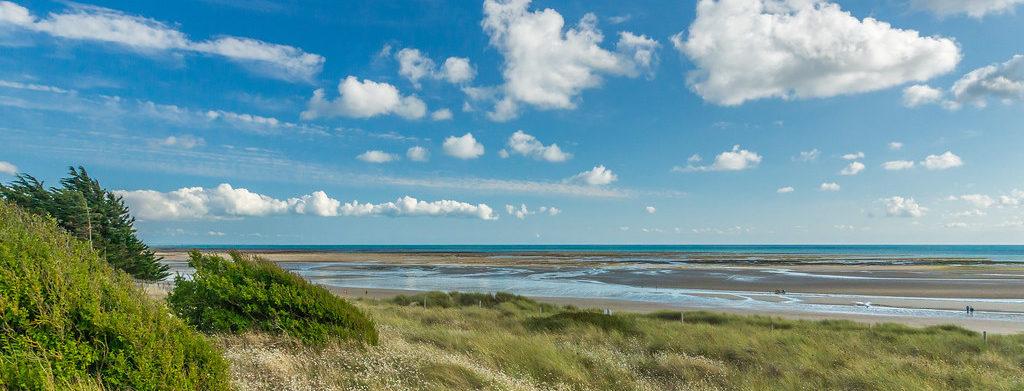 plage et dunes prés salés